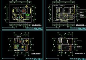 宝石E型别墅详细建筑设计cad施工图