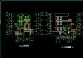 三層詳細的住宅別墅設計cad施工圖紙