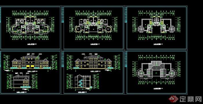 歐式多層別墅設計cad方案圖紙