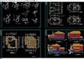 欧式详细的多层别墅设计cad全套图