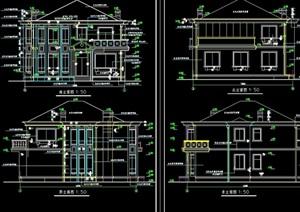 欧式详细的整体别墅设计cad施工图