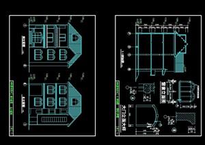 欧式多层别墅设计cad方案
