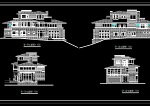 某山地别墅设计cad施工图纸