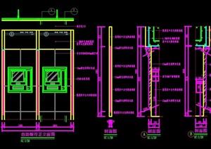 自助银行门设计cad施工详图