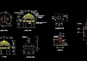 欧式详细的完整亭子设计cad施工图