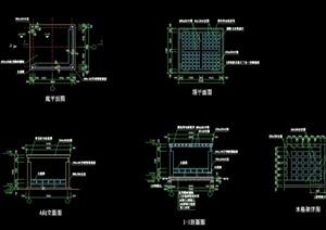 亭子独特详细完整设计cad施工图