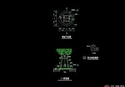 详细的真完整树池设计cad施工图