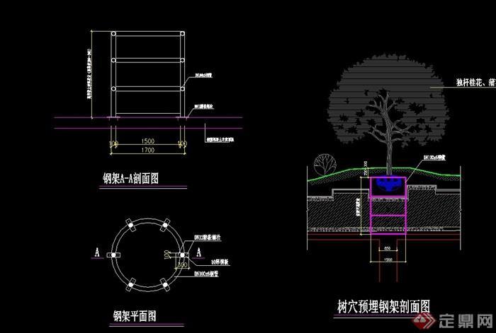 樹池詳細完整設計cad施工圖