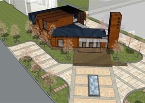 集装箱售楼处方案模型设计