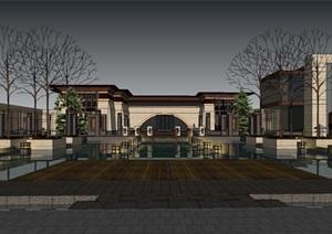 现代主义风格欧式展馆模型