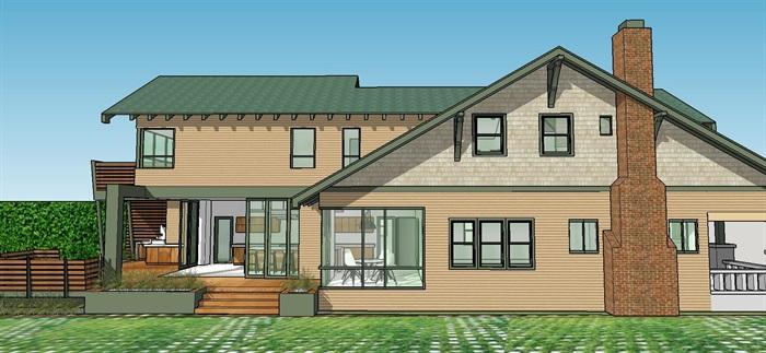 香格里拉欧美别墅模型光纤没有su风格[建筑]原创别墅住房图片
