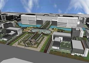 工业园规划建筑设计SU(草图大师)模型