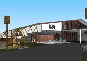 家乐山庄景观设计SU(草图大师)模型