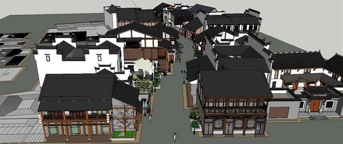 中式风格商业街小设计su模型[原创]图片
