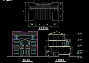双拼详细的别墅设计cad方案