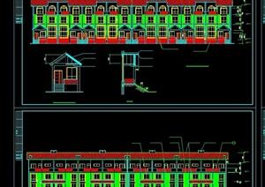 连体别墅建筑cad方案图