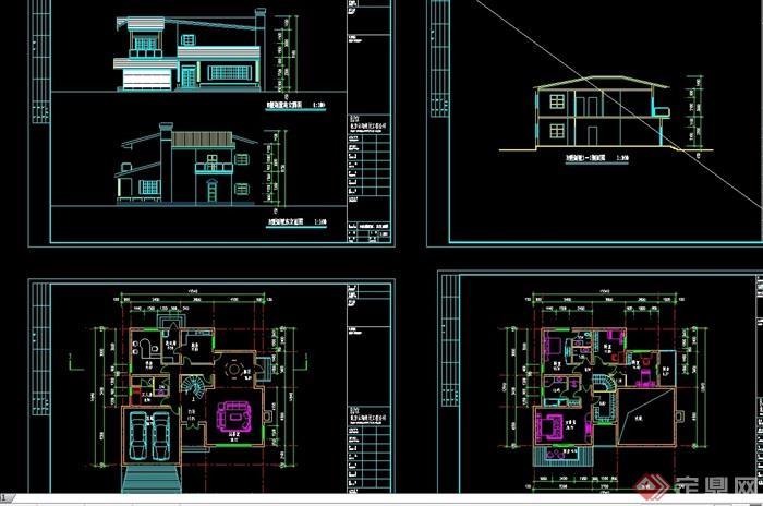 现代多层别墅v多层cad方案别墅拼图石用图片