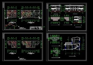 中式别墅建筑设计cad方案