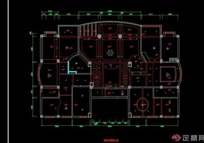 豪宅別墅室內cad施工全圖