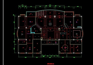 豪宅别墅室内cad施工全图