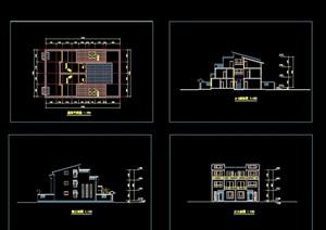 现代豪华型别墅cad方案