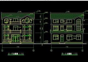 豪华欧式别墅建筑设计cad施工图