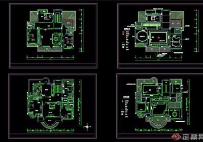 豪華別墅精裝修設計cad施工圖紙