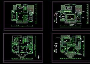 豪华别墅精装修设计cad施工图纸