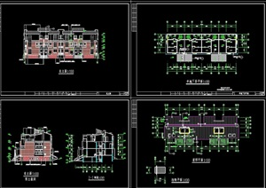精品排屋别墅详细建筑设计cad施工图