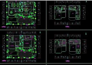 海景花园别墅详细室内设计cad施工图