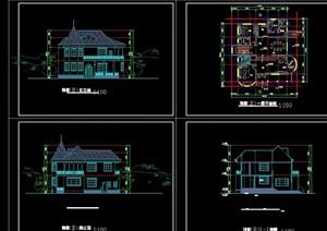 欧式二层别墅cad方案