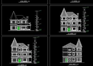 详细的别墅cad方案图