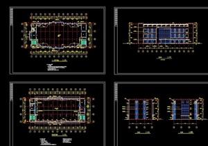 多层详细工业厂房设计cad方案
