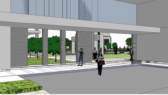 60--新中式建筑小區的SU模型(11)