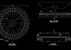 圆形详细的树池设计cad施工图