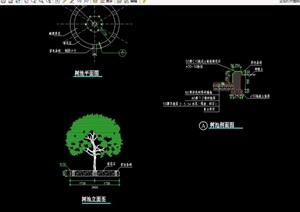详细的整体完整树池设计cad施工图