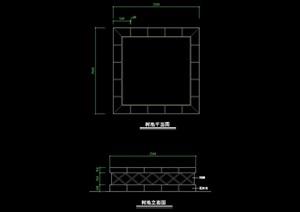 树池设计cad平立面图