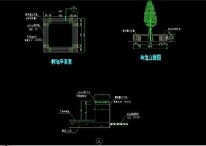 树池详细的整体设计cad施工图