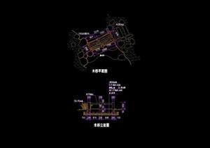 园桥木桥详细设计cad施工图