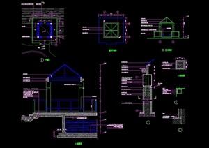 详细的整体亭子设计cad施工图