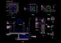 詳細的整體亭子設計cad施工圖