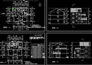 单栋别墅建筑cad施工图