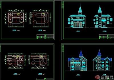 大型樓盤別墅cad施工圖