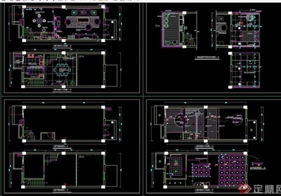 大唐世家樣板別墅設計cad圖