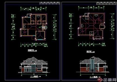 歐式多層大單體別墅建筑cad方案圖