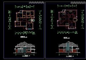 欧式多层大单体别墅建筑cad方案图