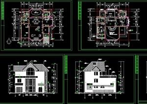 达华庄园别墅多层设计cad施工图