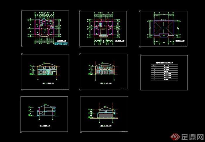 _创业农庄l型别墅建筑cad方案图