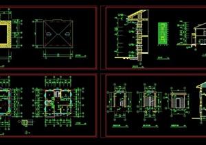 成套别墅建筑cad施工图