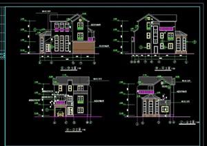 超豪华别墅建筑设计cad施工图